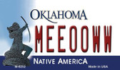 Meeooww Oklahoma State License Plate Novelty Wholesale Magnet M-6252