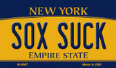 Sox Suck New York State License Plate Wholesale Magnet M-8967