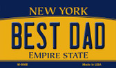 Best Dad New York State License Plate Wholesale Magnet M-8988
