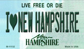 I Love New Hampshire State License Plate Wholesale Magnet M-11132