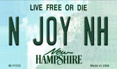 N Joy NH New Hampshire State License Plate Wholesale Magnet M-11133