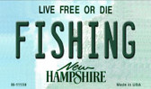 Fishing New Hampshire State License Plate Wholesale Magnet M-11159