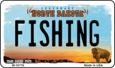 Fishing North Dakota State License Plate Wholesale Magnet M-10718