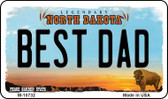 Best Dad North Dakota State License Plate Wholesale Magnet M-10732