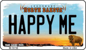 Happy Me North Dakota State License Plate Wholesale Magnet M-10738