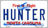 Hunter North Carolina State License Plate Wholesale Magnet M-6482