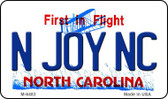 N Joy SC North Carolina State License Plate Wholesale Magnet M-6483