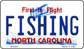 Fishing North Carolina State License Plate Wholesale Magnet M-6494