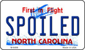 Spoiled North Carolina State License Plate Wholesale Magnet M-6498