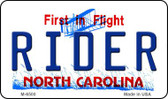 Rider North Carolina State License Plate Wholesale Magnet M-6500