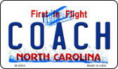Coach North Carolina State License Plate Wholesale Magnet M-6503