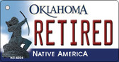 Retired Oklahoma State License Plate Novelty Wholesale Key Chain KC-6224