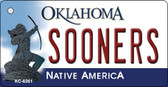 Sooners Oklahoma State License Plate Novelty Wholesale Key Chain KC-6261