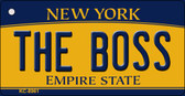 The Boss New York State License Plate Wholesale Key Chain KC-8961