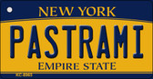 Pastrami New York State License Plate Wholesale Key Chain KC-8963