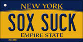 Sox Suck New York State License Plate Wholesale Key Chain KC-8967