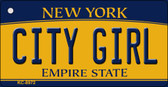 City Girl New York State License Plate Wholesale Key Chain KC-8972