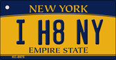 I H8 NY New York State License Plate Wholesale Key Chain KC-8975
