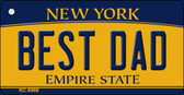 Best Dad New York State License Plate Wholesale Key Chain KC-8988