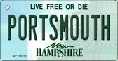 Portsmouth New Hampshire State License Plate Wholesale Key Chain KC-11137