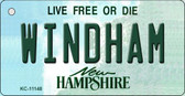 Windham New Hampshire State License Plate Wholesale Key Chain KC-11148