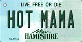 Hot Mama New Hampshire State License Plate Wholesale Key Chain KC-11155