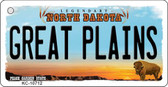 Great Plains North Dakota State License Plate Wholesale Key Chain KC-10712