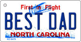 Best Dad North Carolina State License Plate Wholesale Key Chain KC-6479