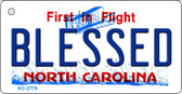 Blessed North Carolina State License Plate Wholesale Key Chain KC-2779