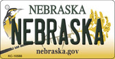 Nebraska State License Plate Novelty Wholesale Key Chain KC-10566