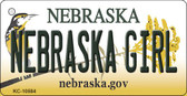 Nebraska Girl Nebraska State License Plate Novelty Wholesale Key Chain KC-10584
