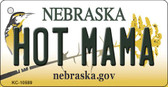 Hot Mama Nebraska State License Plate Novelty Wholesale Key Chain KC-10589
