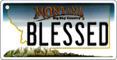 Blessed Montana State License Plate Novelty Wholesale Key Chain KC-11120
