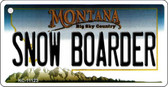 Snow Boarder Montana State License Plate Novelty Wholesale Key Chain KC-11123