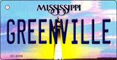 Greenville Mississippi State License Plate Wholesale Key Chain KC-6559
