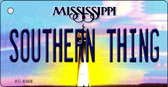 Southern Thing Mississippi State License Plate Wholesale Key Chain KC-6568