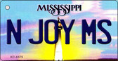 N Joy MS Mississippi State License Plate Wholesale Key Chain KC-6575