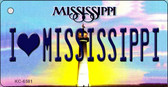 I Love Mississippi State License Plate Wholesale Key Chain KC-6581