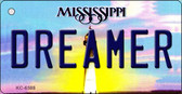 Dreamer Mississippi State License Plate Wholesale Key Chain KC-6588