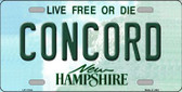 Concord New Hampshire State Wholesale License Plate LP-11134