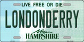 Londonderry New Hampshire State Wholesale License Plate LP-11141