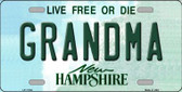 Grandma New Hampshire State Wholesale License Plate LP-11152