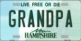 Grandpa New Hampshire State Wholesale License Plate LP-11153