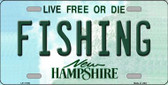 Fishing New Hampshire State Wholesale License Plate LP-11159