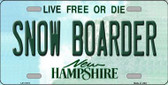 Snow Boarder New Hampshire State Wholesale License Plate LP-11173