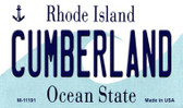 Cumberland Rhode Island State License Plate Novelty Wholesale Magnet M-11191