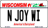N Joy WI Wisconsin State License Plate Novelty Wholesale Magnet M-10610
