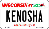 Kenosha Wisconsin State License Plate Novelty Wholesale Magnet M-10616