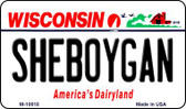 Sheboygan Wisconsin State License Plate Novelty Wholesale Magnet M-10618