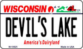 Devils Lake Wisconsin State License Plate Novelty Wholesale Magnet M-10625